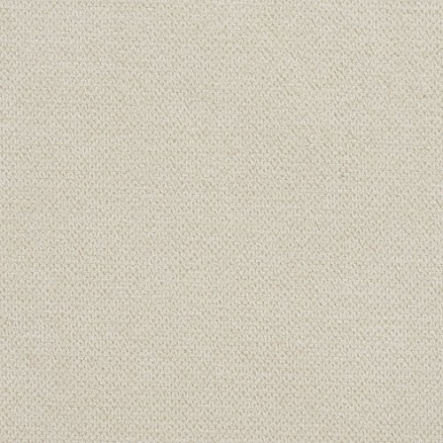 E936 Oyster Off-White Woven Soft Crypton Performance Upholstery Fabric by The Yard ()