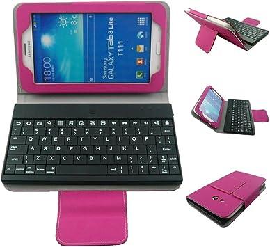 LHY Teclado Bluetooth Funda para Samsung Galaxy Tab 3 7.0 ...