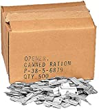 Genuine US Military P-38 Metal Can Openers Steel Army P38 Mil-J-0837 Compact Travel Size, 500 Pack