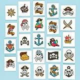 Baker Ross Lot de 24 Tatouages Pirates - Idéal pour les costumes de Pirates