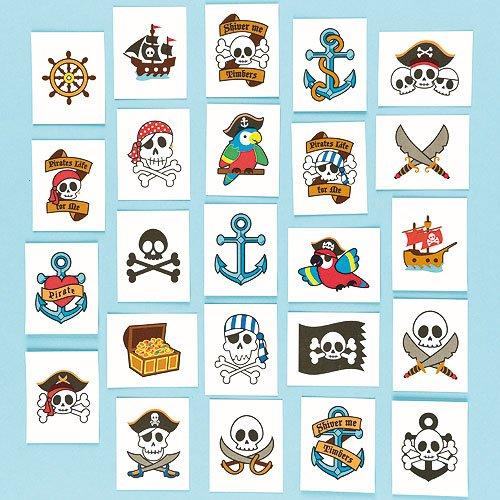 53 opinioni per Tatuaggi Pirata da Regalare alle Feste dei Bambini (Confezione da 24)