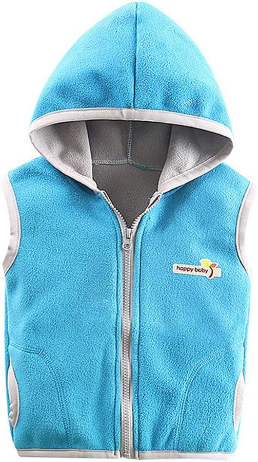 Shenye Toddler Kids Baby Boys Girls Sleeveless Letter Warm Hooded Coat Clothes Warm Waistcoat Top Outwear Clothes for 0-9 Years Baby Unisex Gilets