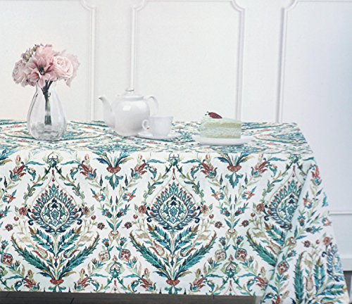 Max Studio Fabric Tablecloth Floral Medallion Pattern in