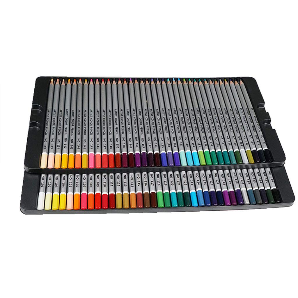 Jeeke Multi Color Pencil Kit 72/48/36 with Iron Box Packing Set Colored Pencils Art Graffiti Pencil Set with Comfort Grip for Cards Writing Signature Lettering