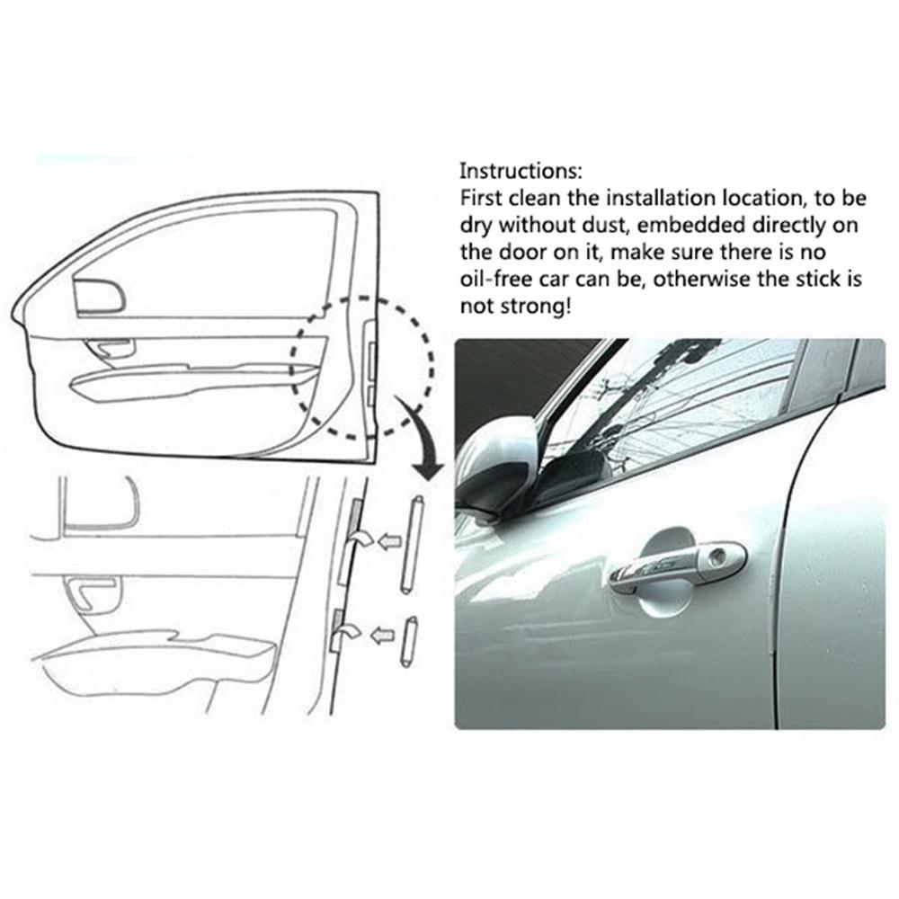 Clear Auto Car Door Edge Protector Scratch Strip Guards Bumper Kit Set FOONEE Car Door Collision Protector Rubber