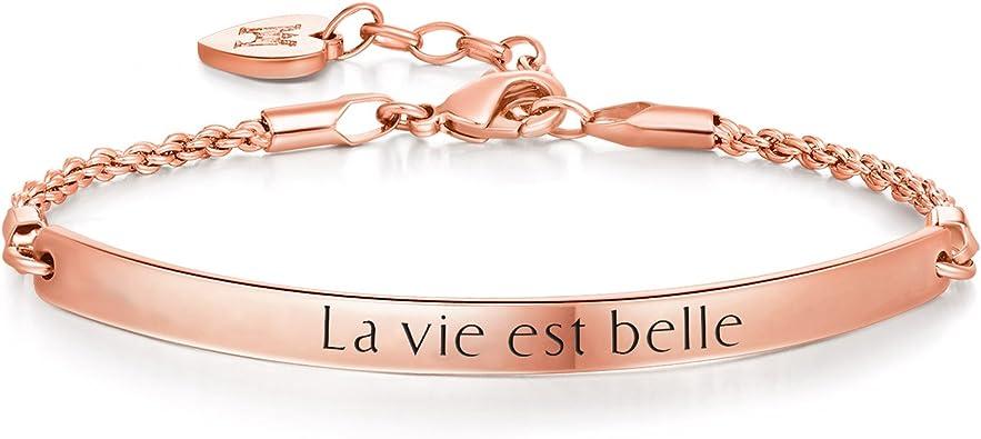 bracelet femme message
