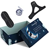 Anti Snoring Chin Strap & Anti Snoring Nose Vents (4 Size) + Silk Sleep Mask (All in One) Premium Quality Adjustable Anti Snore Solution for Men & Women & Kids Sleep Aid Devices