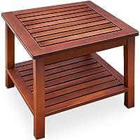Deuba mesa auxiliar aceitada mesa de centro