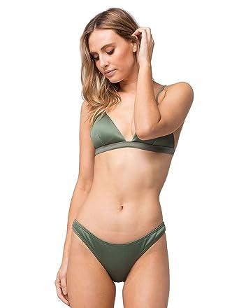 ba3e8cbb5278d Amazon.com  Damsel Ribbed Cheeky Bikini Bottoms  Clothing