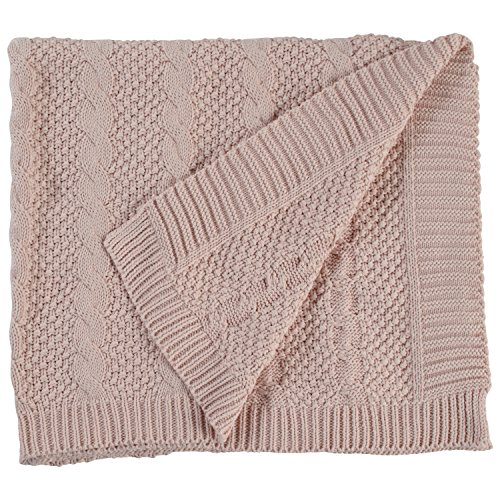 Stone & Beam Transitional Chunky Cable Knit Throw, 70