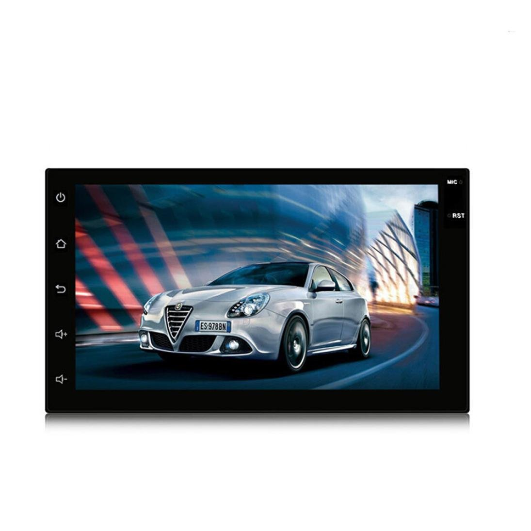 7088 7inch Double 2 Din 7inch HD Android Touchscreen In Dash GPS Car Stereo FM Radio MP5/MP3 Player Dreamyth Practical (Black)