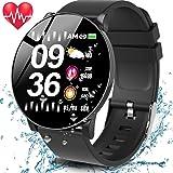 MyDear Pulsera de Actividad Smartwatch, W8 Pulsera Inteligente Impermeable IP68 Reloj Deportivo para Deporte, Podómetro, Monitor de Ritmo, Calorías para Android y iOS Teléfono Móvil Hombres Mujeres