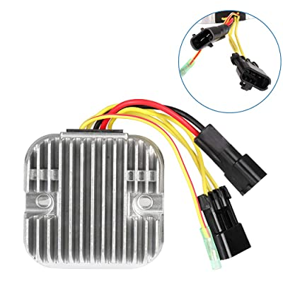 ECCPP Voltage Regulator Rectifier Fit for 2010-2012 Polaris Ranger 500 2010 Polaris Ranger 800 2011-2013 Polaris Ranger Crew 500 2010 Polaris RZR 4 800 2010 Polaris RZR 800 4012748 Rectifier Regulator: Automotive