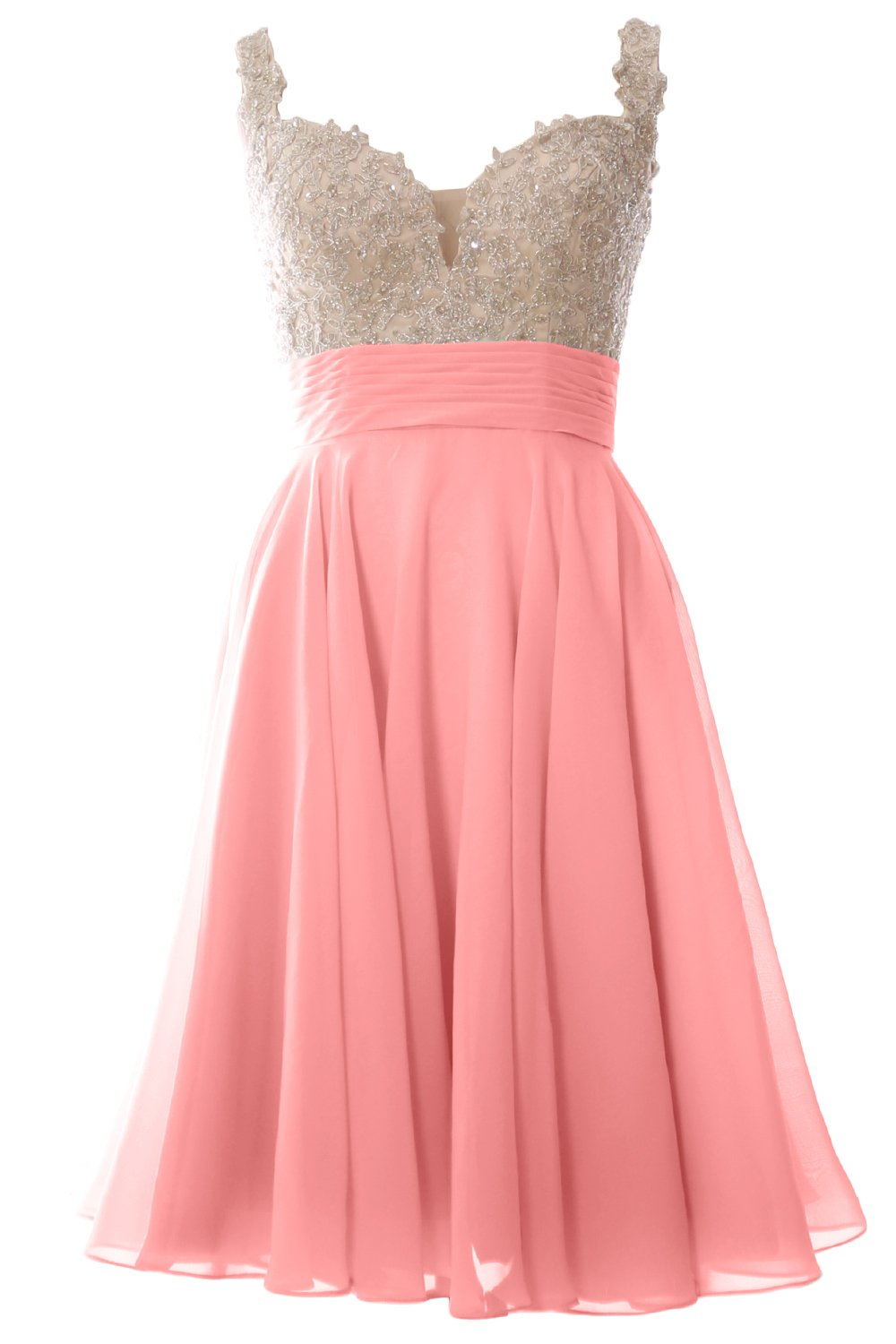 e1bc1b9af402 ... dresses/MACloth Women Straps Wedding Party Formal Gown Short Lace Prom  Homecoming Dress (US14, Blush Pink). ; 