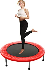 Balanu 40 Inch Mini Exercise Trampoline for Adults or Kids - Indoor Fitness Rebounder Trampoline with Safety Pad | Max. Load 220LBS