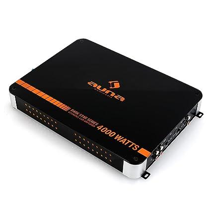 auna Dark Star 4000 • Amplificador HiFi para Coche • Amplificador de 4 Canales • Potencia