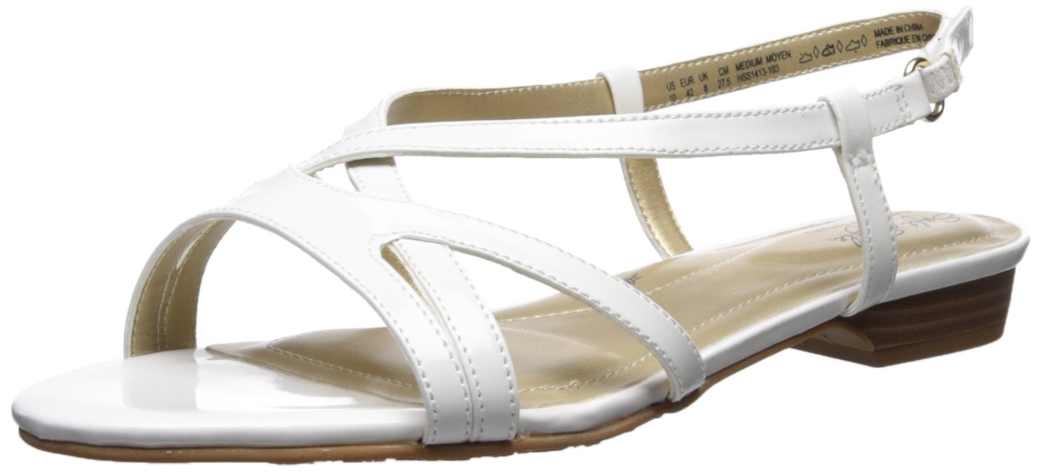 Soft Style by Hush Puppies Women's Maisy Sandal, White Patent, 10.0 M US