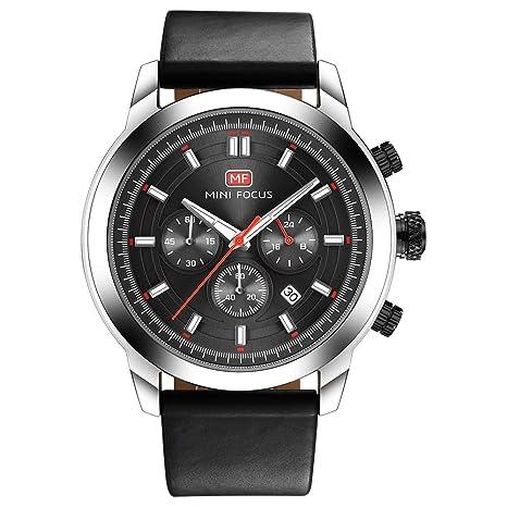 QRMH Hombres De Imitación Cuero Reloj Reloj De Pulsera Azul Rosa Oro Negro Calendario Blanco Impermeable
