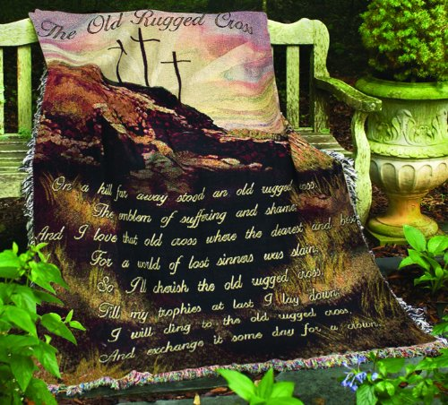 Manual Inspirational Collection 50 x 60-Inch Tapestry Throw, Old Rugged Cross
