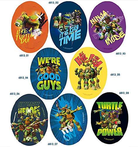 8 parches tortugas ninja serigrafiados para planchar - REF ...