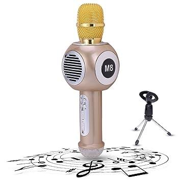 judyelc bolsillo inalámbrico Bluetooth micrófono 2600 mAh aleación de Karaoke altavoz reproductor altavoz para Apple iOS/Android/Symbian Smartphone PC Hogar ...