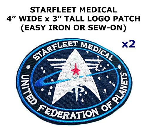Diy Retro Alien Costume (2 PCS Star Trek Starfleet Medical Theme DIY Iron / Sew-on Decorative Applique Patches)