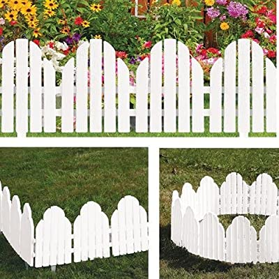 Adirondack Style White Garden Borders Set of 4