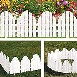 Adirondack Style White Garden Borders Set of 4