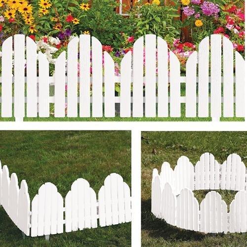 Adirondack Style White Garden Borders Set of 4 by Etna