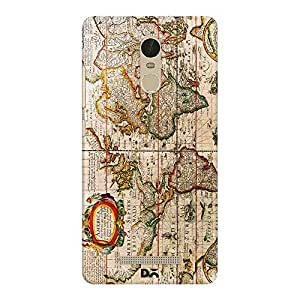 DailyObjects Vintage Map Case For Xiaomi Redmi Note 3