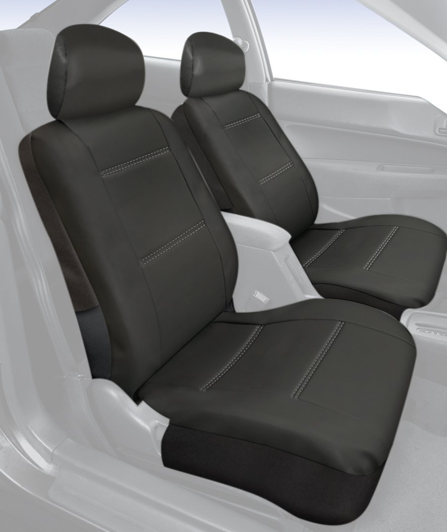 Saddleman Rear Bench Custom Made Seat Cover Leatherette Fabric S 779024-01 Black
