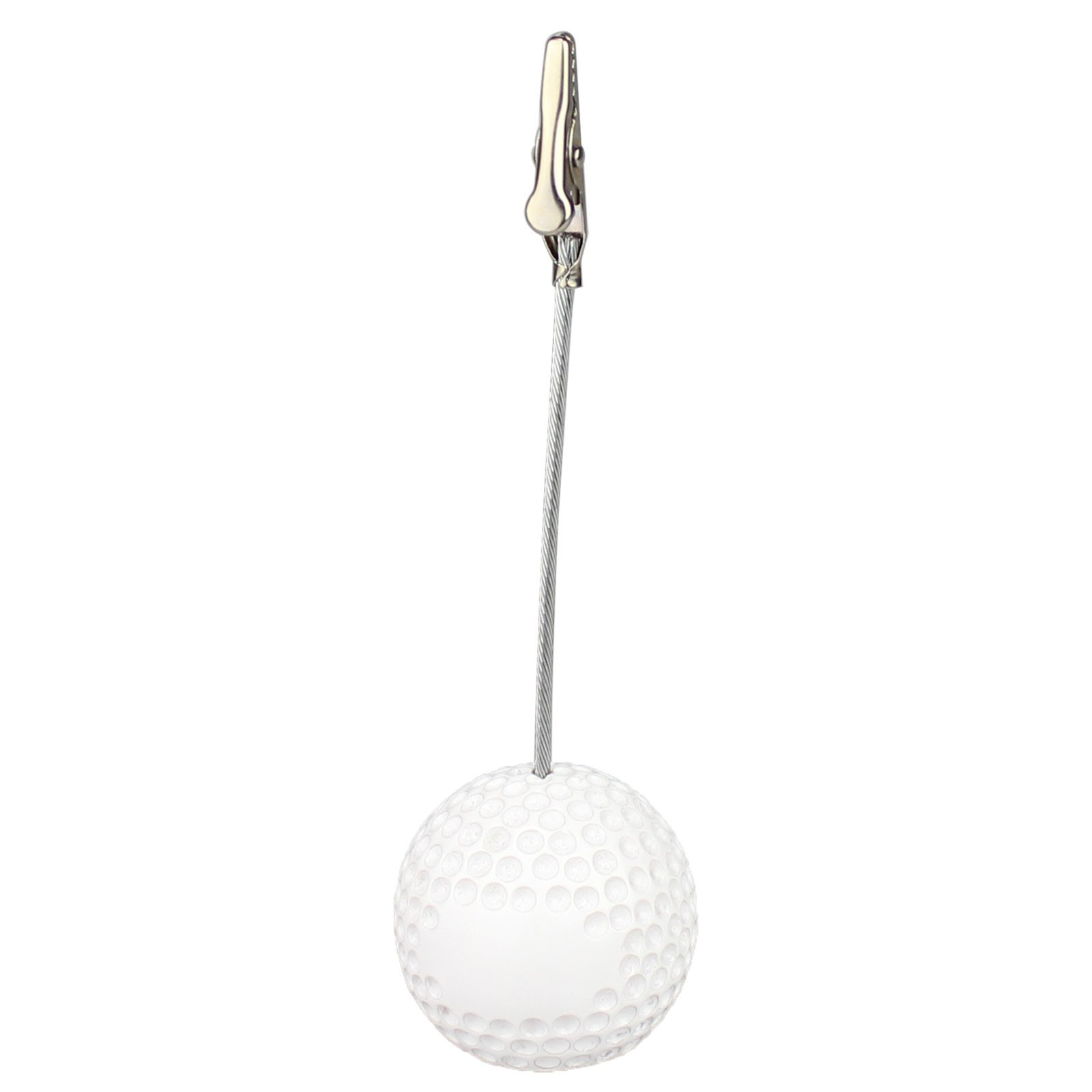 5Pcs Sport Game Ball Stand Alligator Wire Memo Photo Clip Holder,Table Place Card Holder,Sport Event Display,Wedding Party Favor Fusheng (Golf Ball Shape) by Fusheng