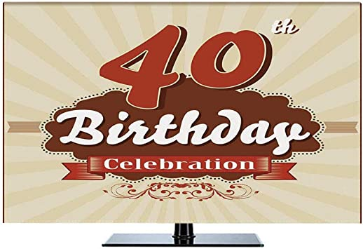 Amazon Com 40th Birthday Decorations 70 Printed Indoor Tv Cover Vintage Old Fashion Style Celebration Banner And Dots Display Protector For Lcd Led Plasma Television Screens Dustproof Cover Home Audio Theater