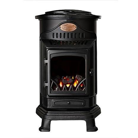 Calefactor de gas efecto sartén para madera 3 kW Provence