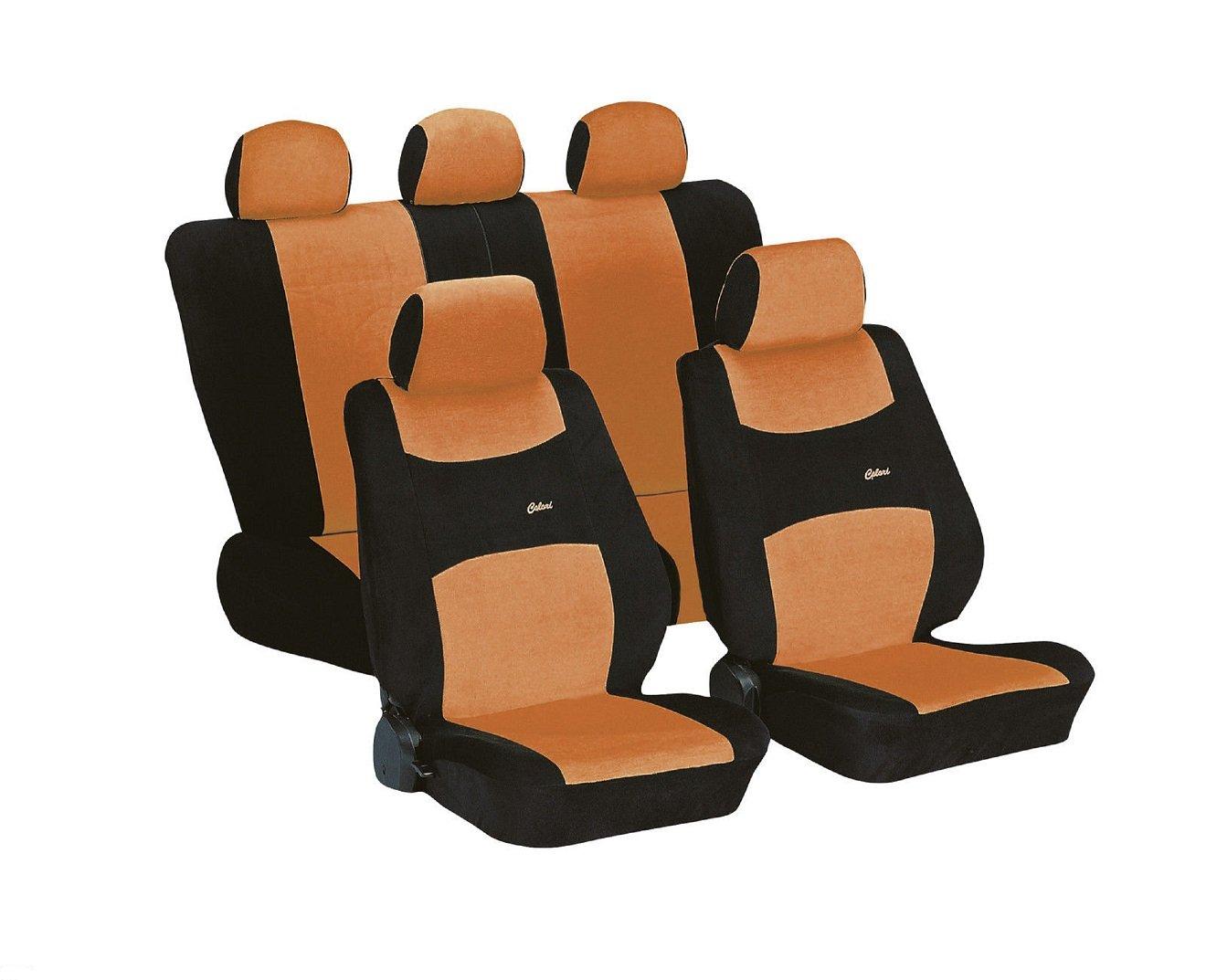 Amazon.es: Coche Colori Naranja Negro Auto asiento fundas Asiento Fundas Fundas Asiento