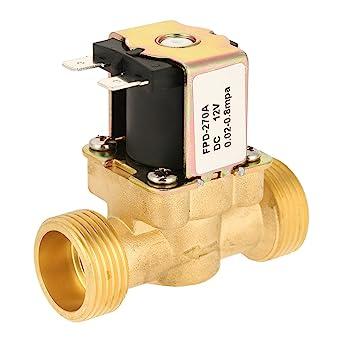 Válvula electromagnética eléctrica de latón G3/4 de agua 12 V DC normalmente cerrada