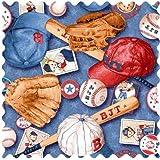 SheetWorld Baseball Bear Fabric – By The Yard, Baby & Kids Zone