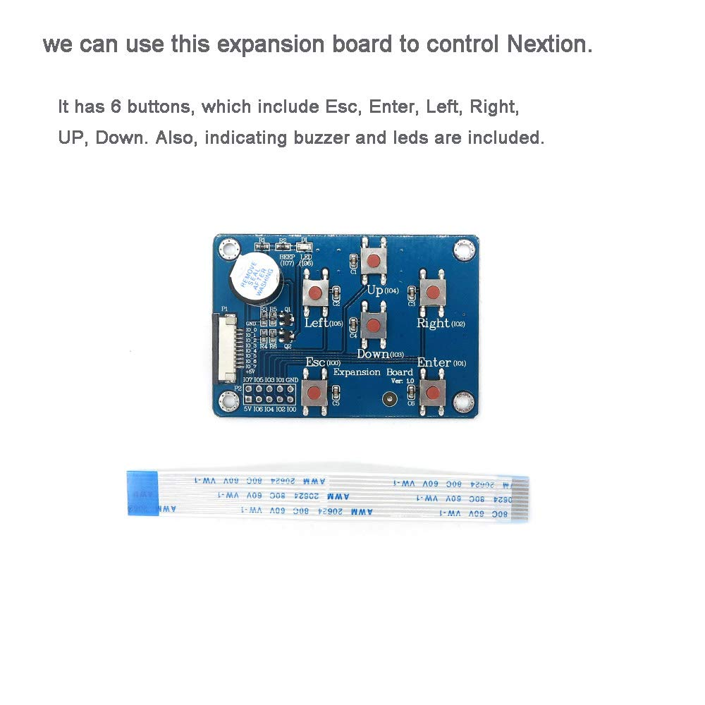 Nextion Enhanced 3 2'' HMI Touch Display 400×240 pixel Screen Panel  NX4024K032 with I/O Extended Expansion Board for Arduino Raspberry Pi