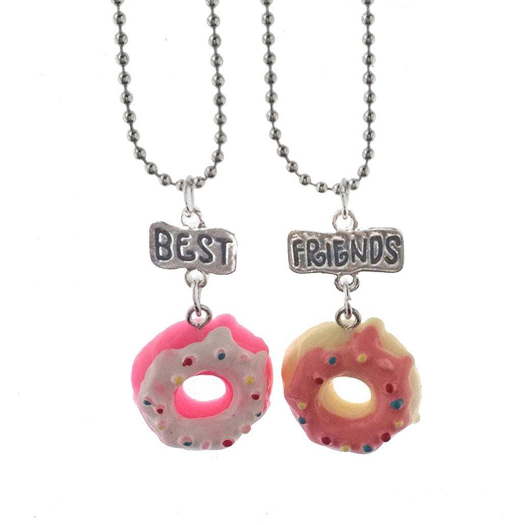 Elegant Rose Lot de 2/colliers en alliage pour meilleures amies Motif donuts et inscription /«/Best Friends//»