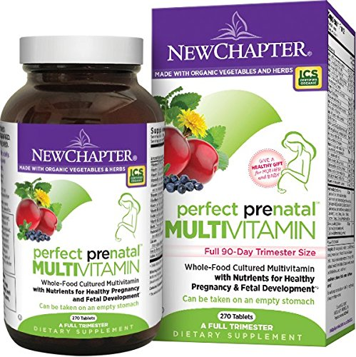 Perfect Prenatal Vitamin by New Chapter, 270 ct Trimester Size