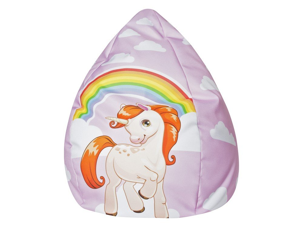 Kindersitzsack Einhorn rosa Mädchen Sitzsack XL 70x110 Sitzkissen Regenbogen Magma