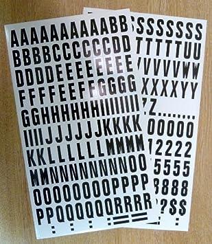 Buchstaben Und Zahlen Zum Aufkleben Schwarz Auf Weiß Vinyl