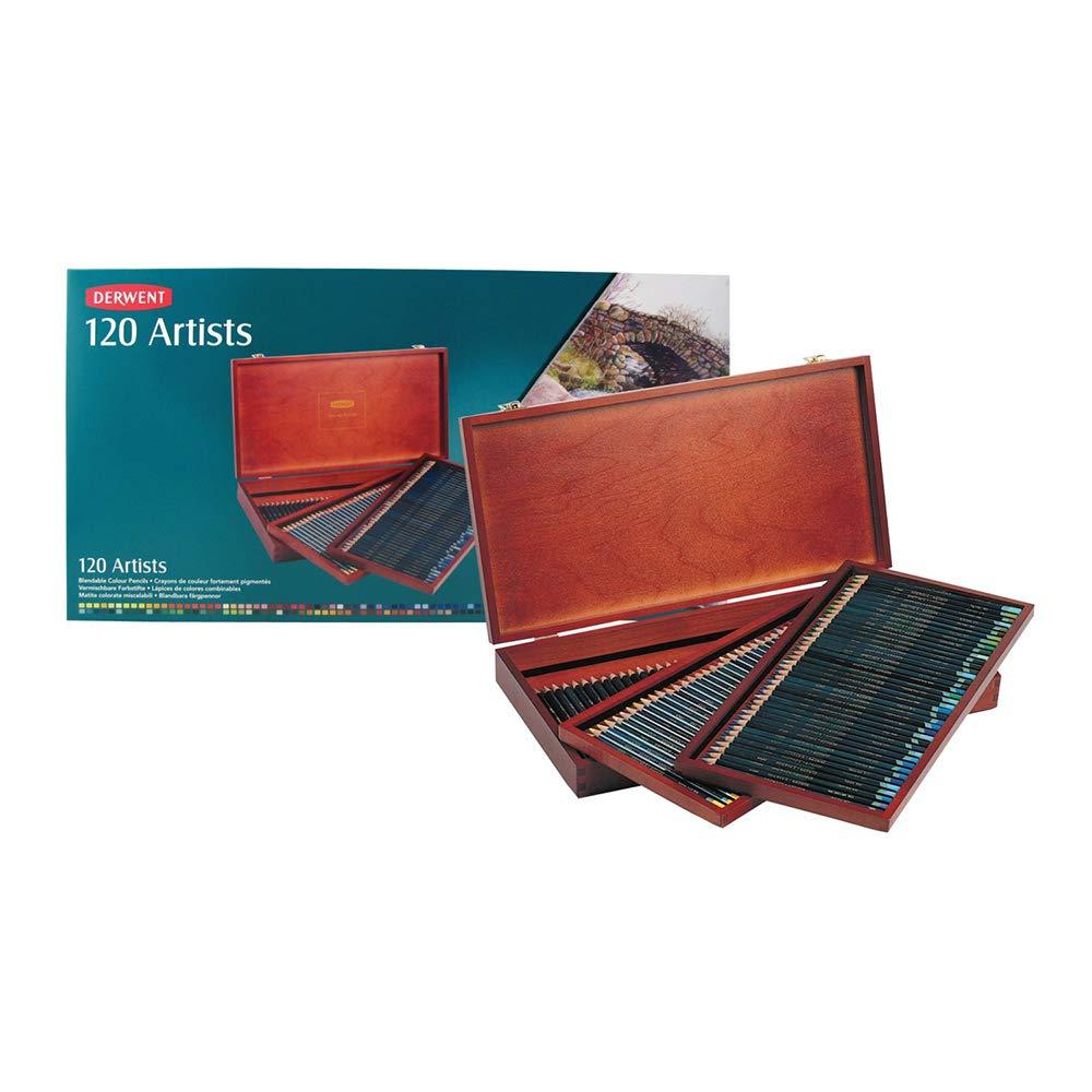 120 lapices de colores Derwent, caja de madera (xmp)