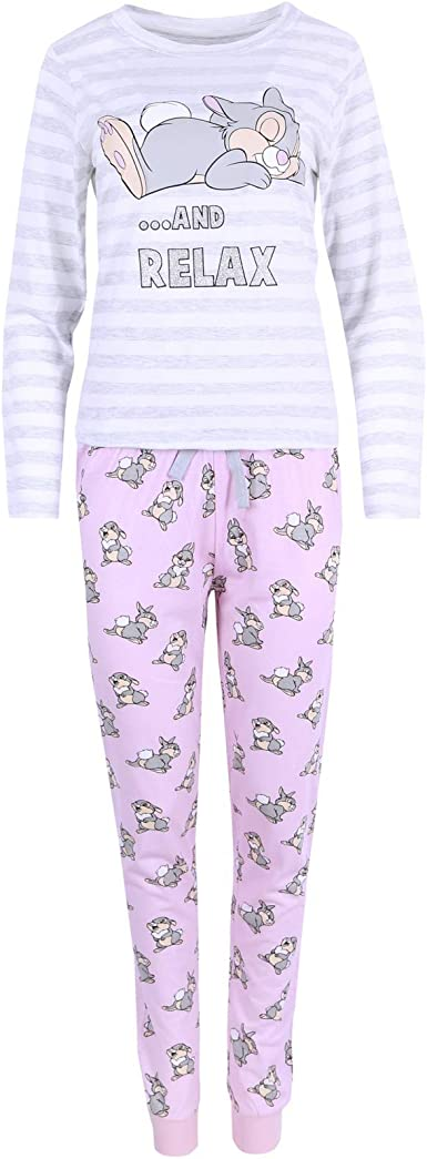 Pijama Gris y Rosa de Mujer Tambor Disney