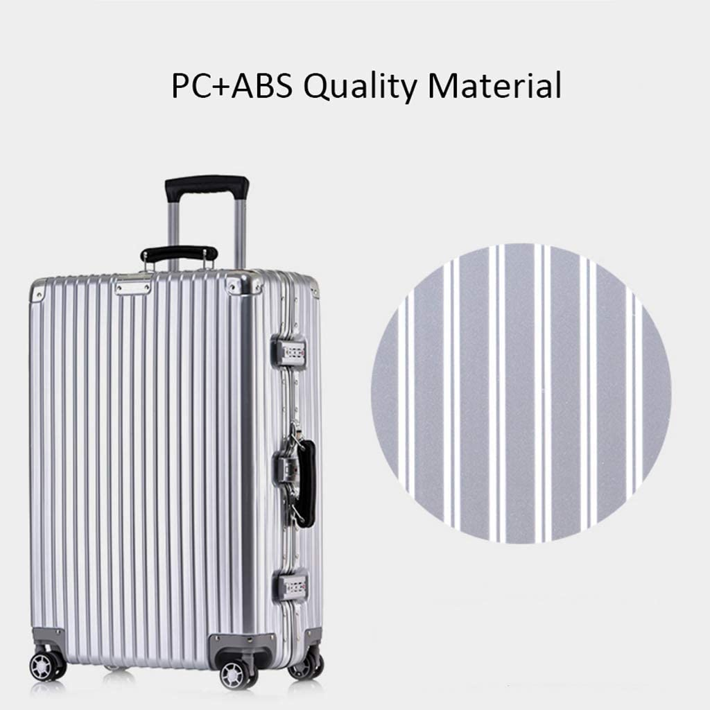 Color : Green, Size : 29inch XFRJYKJ-Luggage box Scratch-Resistant Aluminum Frame Suitcase Rotary Wheel Trolley Case 20//24//26//29 Inch Boarding Case