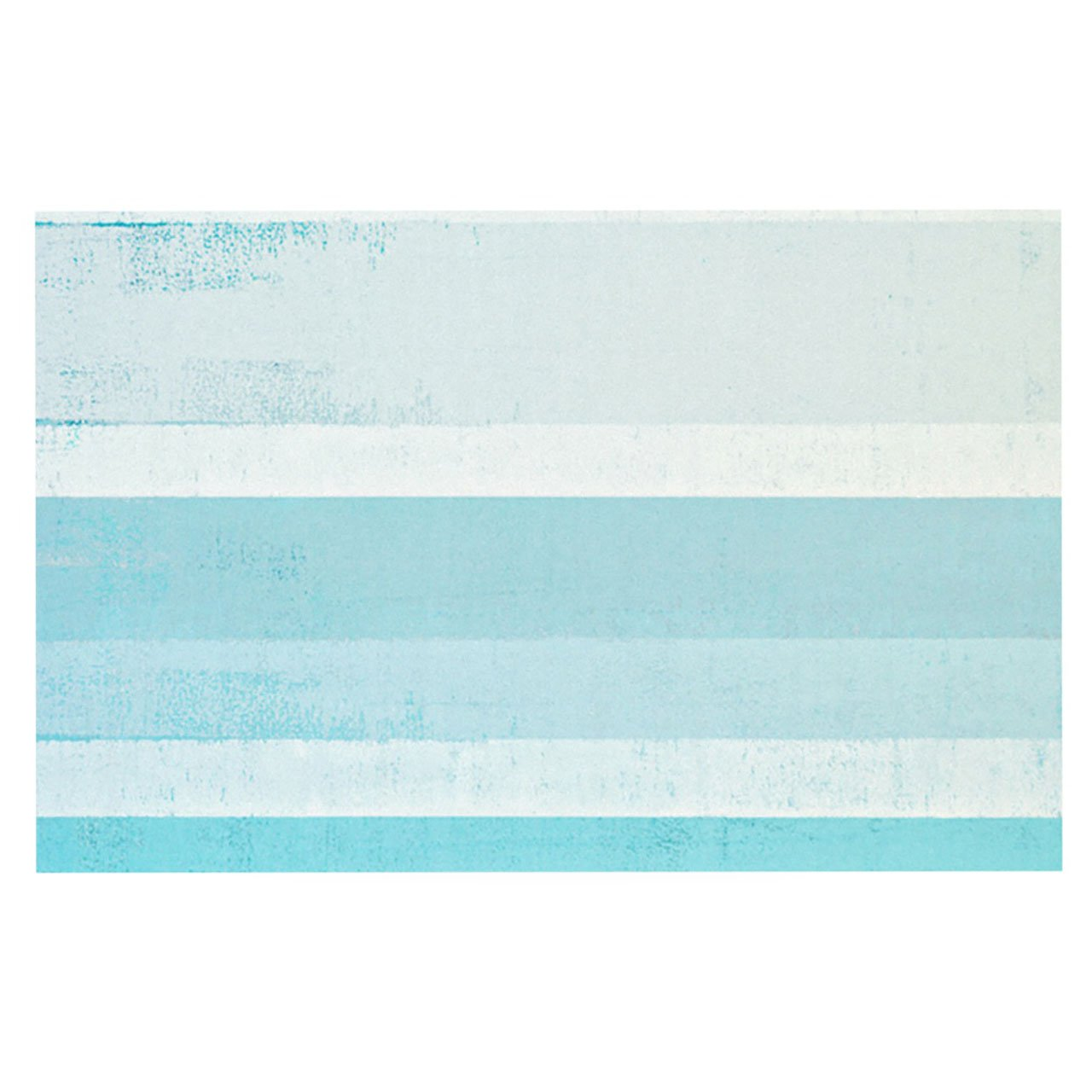 Kess InHouse  CarolLynn Tice ''Waves'' Blue Aqua Pet Bowl Placemat for Dog and Cat Feeding Mat, 18-Inch by 13-Inch