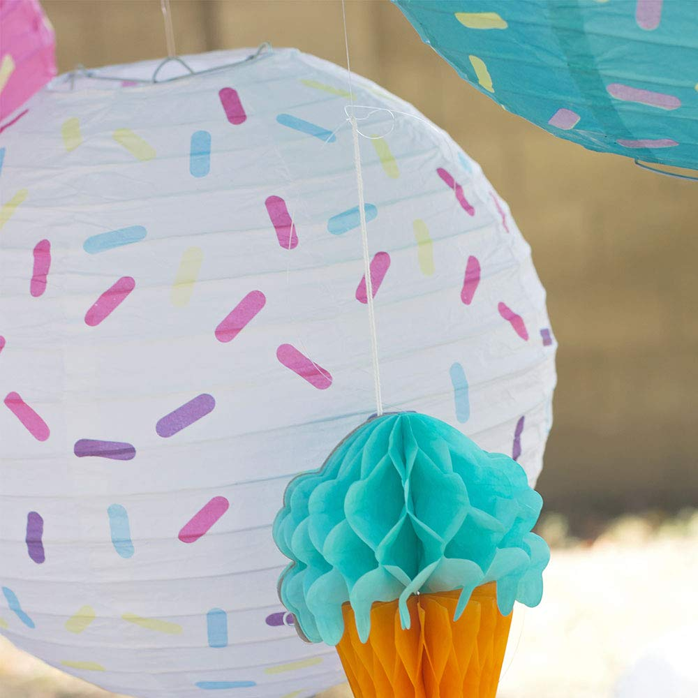 Just Artifacts 12inch Hanging Paper Lanterns (Sprinkles Pattern, 3pcs) by Just Artifacts (Image #8)