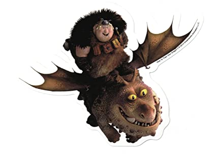 Amazon Com How To Train Your Dragon 2 Fishlegs And Meatlug Sticker