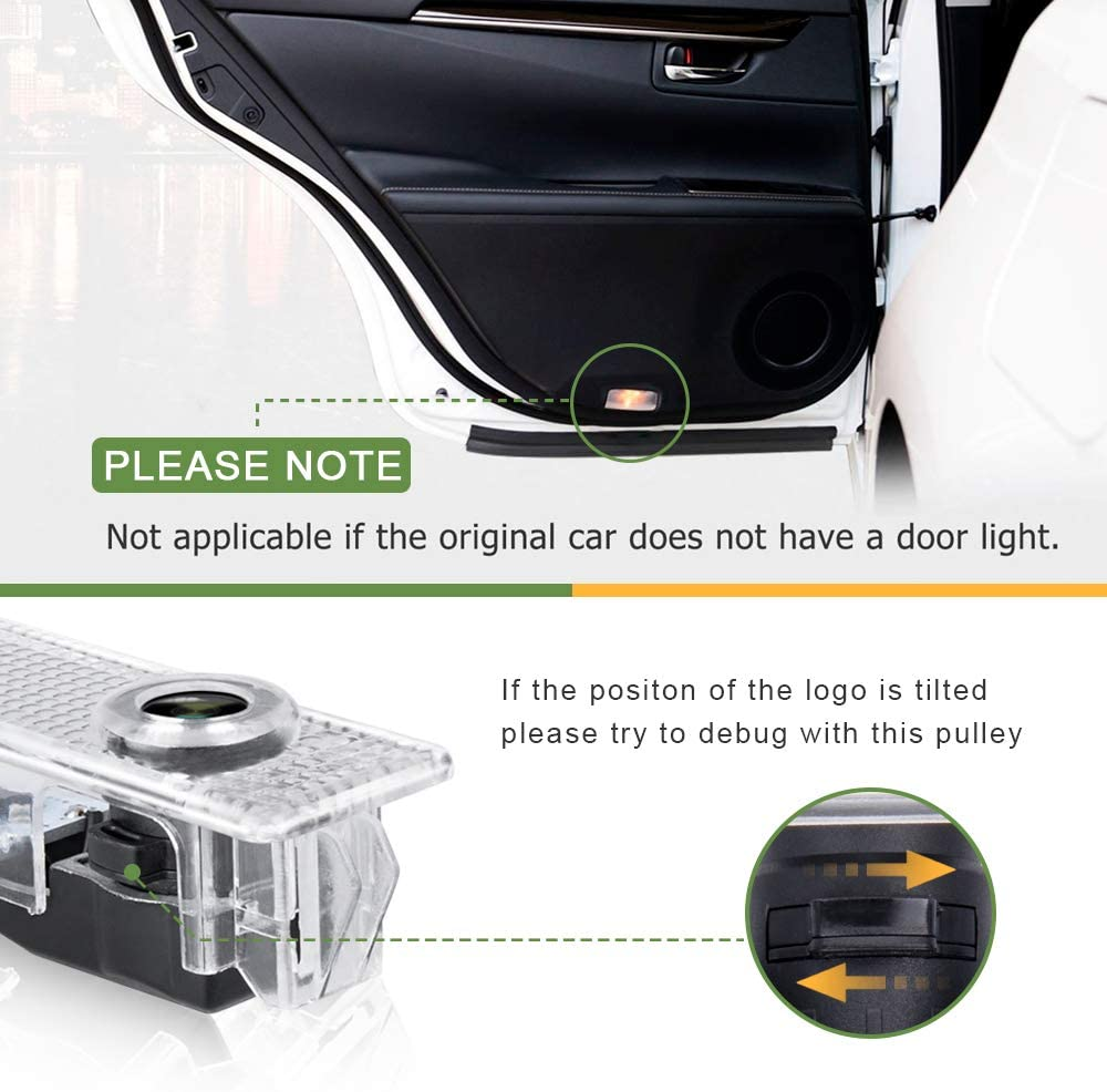 Car Door LED Logo Lights Projector Ghost Shadow Light for BMW Compatible 3//5//6//7//Z//GT//X1//X3//X4//X5//X6 Series,Door Puddle Lights Welcome Emblem Lamp Accessories 4 Pack