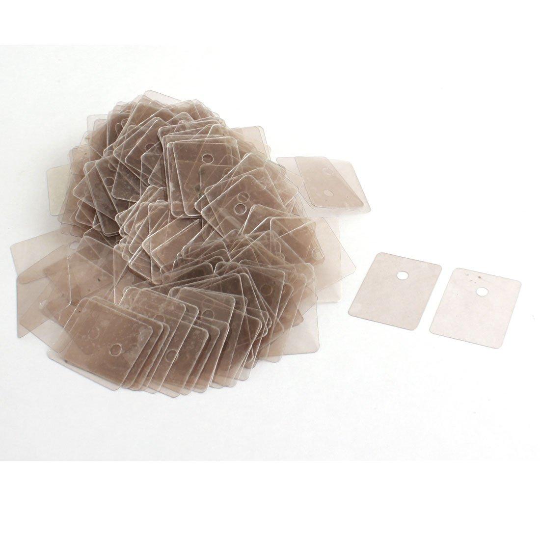 300Pcs 22mmx29mmx0.12mm Mica Insulator Insulation Sheet Plates Sourcingmap a14072800ux0059